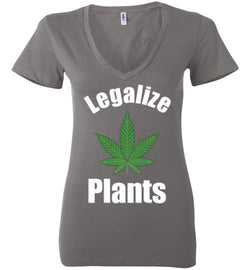 Legalize Plants Women's V-Neck T-Shirt