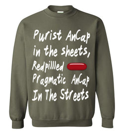 Purist Ancap In The Sheets Sweatshirt