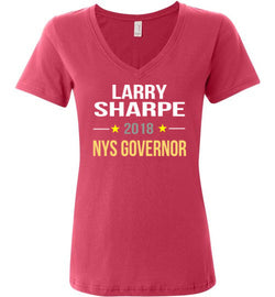Larry Sharpe 2018 Women's V-Neck T-Shirt