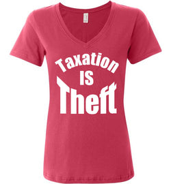 Taxation is Theft Women's V-Neck T-Shirt