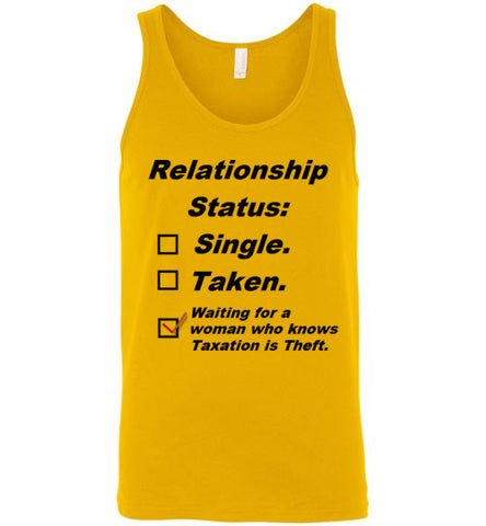 Relationship Status: Taxation is Theft Men's Tank Top