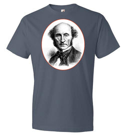 John Stuart Mill Portrait w/ Free Speech Quote T-Shirt