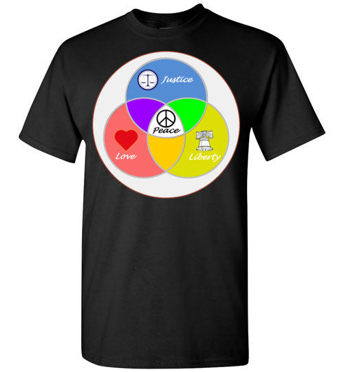 Justice, Love, & Liberty equals Peace T-Shirt