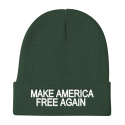 Make America Free Again Knit Beanie Hat