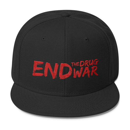 End The Drug War Wool Blend Snapback Hat