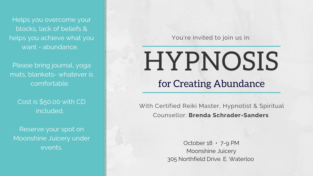October 18: Hypnosis for Creating Abundance