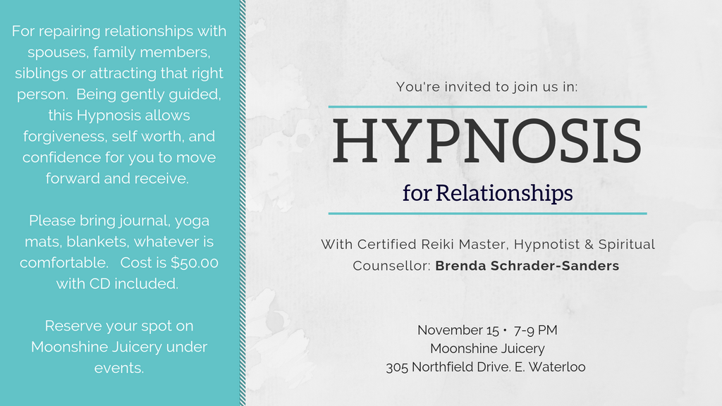 Nov. 15: Hypnosis for Relationships