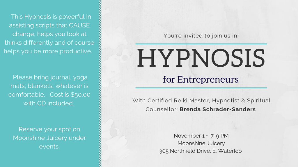 Nov. 1: Hypnosis for Entrepreneurs