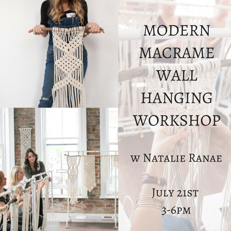 MODERN MACRAME WALL HANGING WORKSHOP w Natalie Ranae
