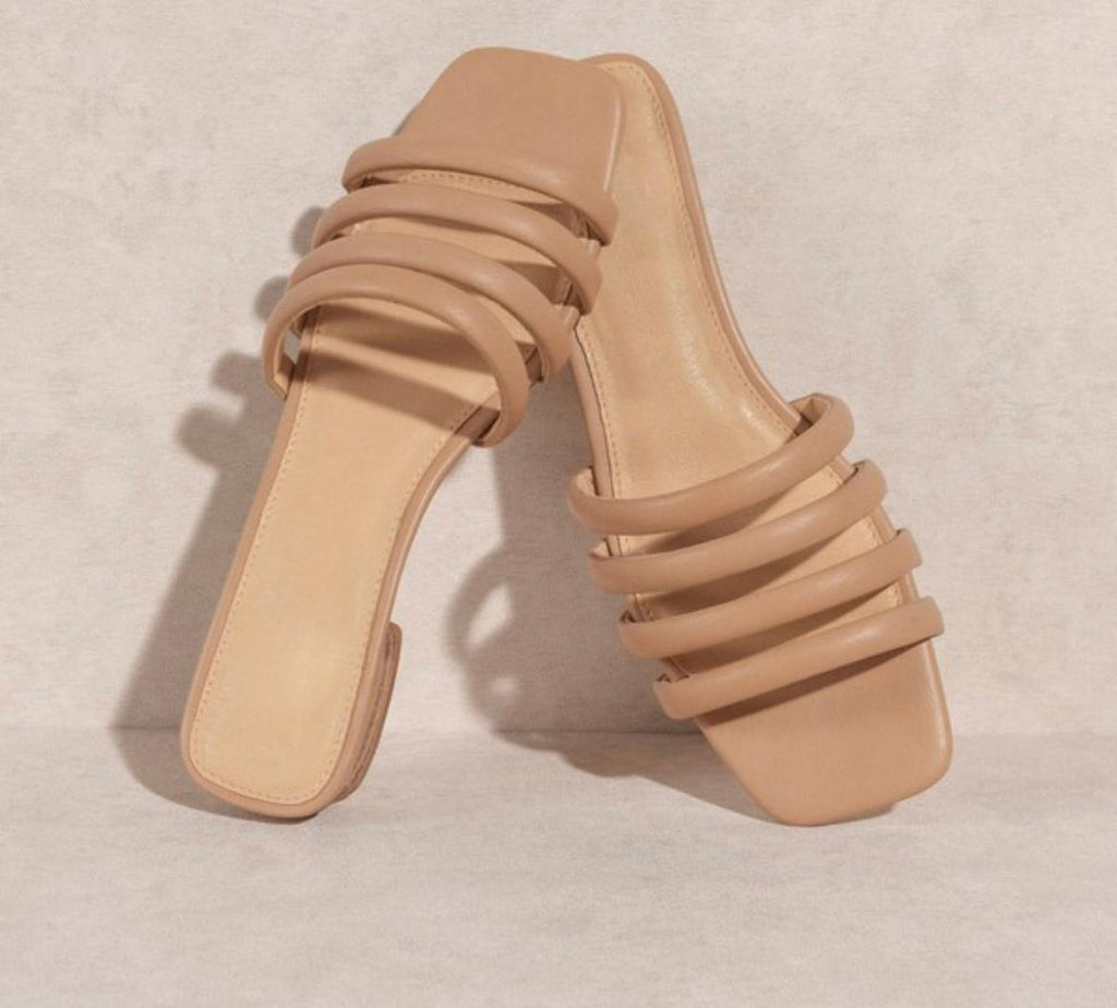SANIBAL TAN STRAP SANDALS