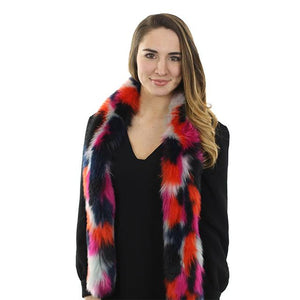 Multi-color Faux Fox Scarf