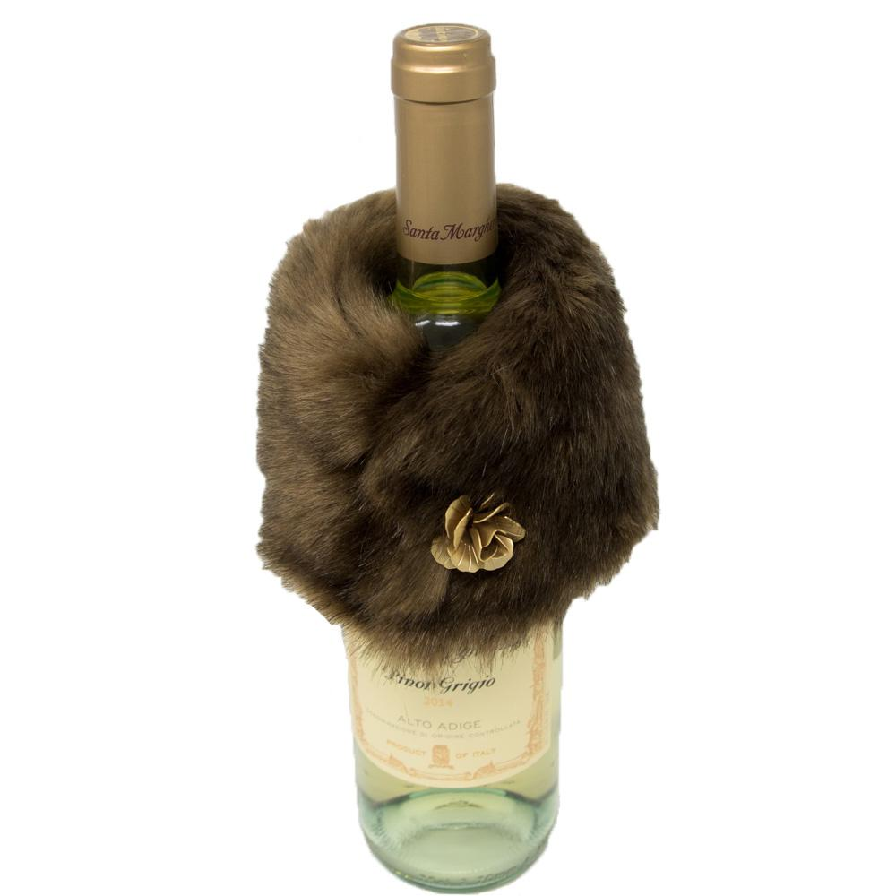 Faux Fox Wine Stole