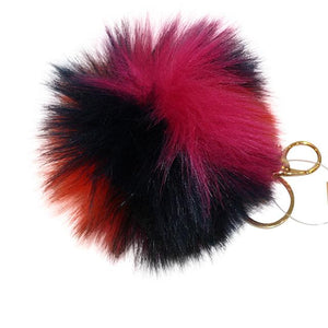 Pom Pom Key Chain - Faux Fur