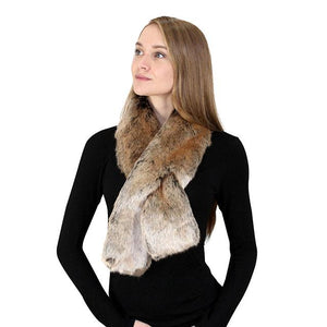 Faux Fox Pull-Through Scarf
