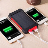 Solar Power Bank for iPhone X 6 7 8 Plus 30000mah Waterproof External Battery Backup LED Powerbank Phone Battery Charger