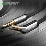 Ugreen aux cable jack 3.5mm male to male audio cable 90 degree right angle flat aux cable for car / PM4 PM3 / headphone aux cord