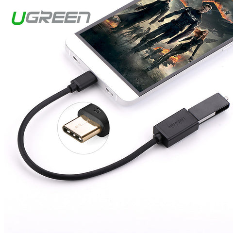 Ugreen USB Type C Adapter OTG Cable USB 2.0 to Female USB OTG Adapter for Macbook Nokia N1 Chromebook Xiaomi 4C Letv USB C Cable