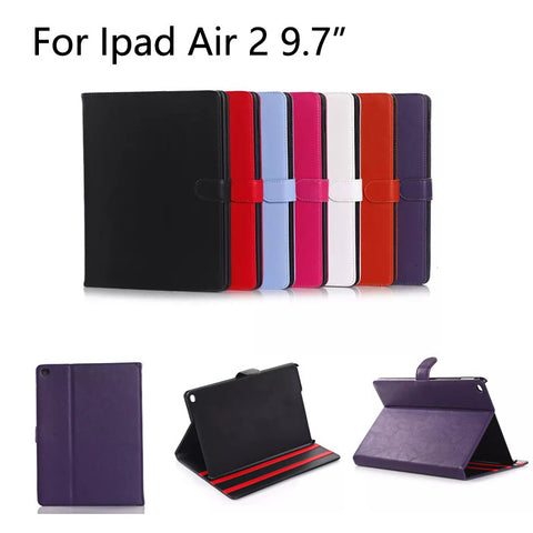 For Apple iPad Air 2 case Plaid Design Business PU Leather Protective Skin for iPad 6 Cover With Card Holder Tablet Accessories