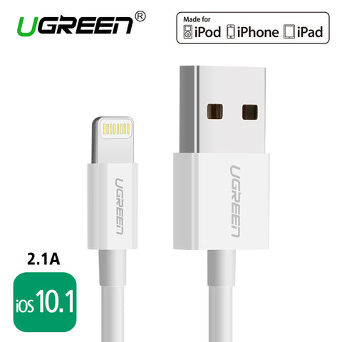 For MFi iPhone Cable 2m iOS10.1, Ugreen 2.1A Fast Mobile Phone Lightning to USB Charger Data Cable for iPhone 6 5 iPad Air iPod
