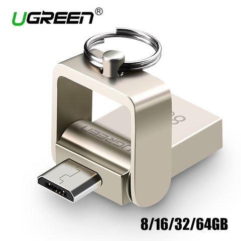 Ugreen OTG USB Flash Drive 16GB 32GB 64GB USB Pen Drive OTG External Micro USB Stick Memory Full Capacity Pendrive Metal U Disk