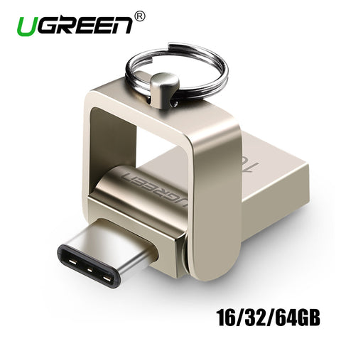 Ugreen USB Flash Drive 16GB 32GB 64GB Metal USB 3.0 Type C OTG External Pen Drive Flash Mini Storage Flash Drive Memory Stick