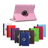 for Apple ipad 2 ipad 3 ipad 4 Tablet Case 360 Degree Rotating PU Leather Stand Flip Folio Screen Protector Cover + film + Pen