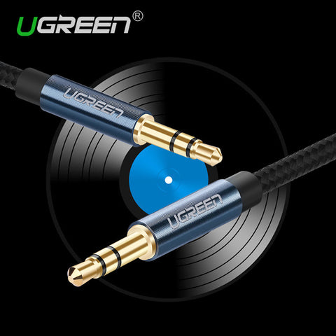 Ugreen New Aux Cable 3.5mm to 3.5 mm Jack Audio Cable Thread Bradied Male to Male  Stereo Auxiliary Cord for Phone Car Speaker