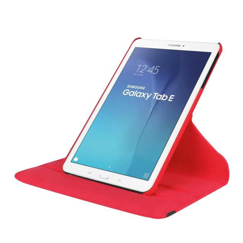 "Luxury Stand PU Leather 360 Degree Rotating Cover for Samsung Galaxy Tab E 9.6"" T560 T561 Tablet Case+Free Screen Protector+ Pen"