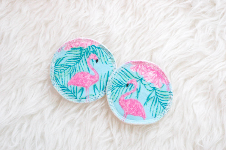 Flamingo Reusable Nursing Pads - Nursing Pad - ReFluff - Little A & Co.