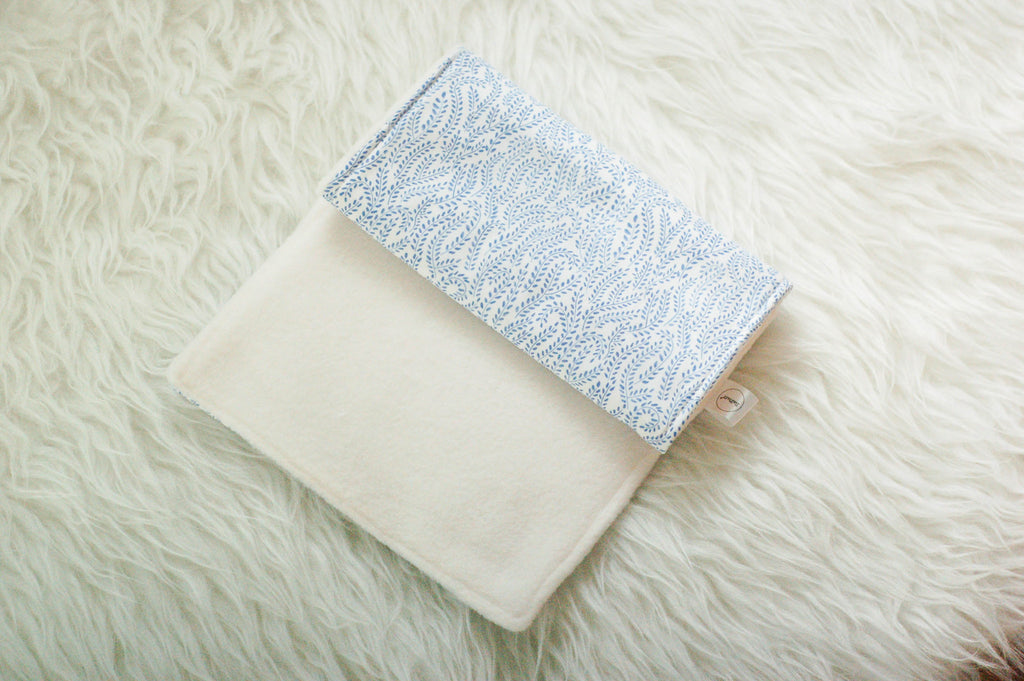 Summer Blue Eco Friendly Burp Pad - Burp Pads - ReFluff - Little A & Co.