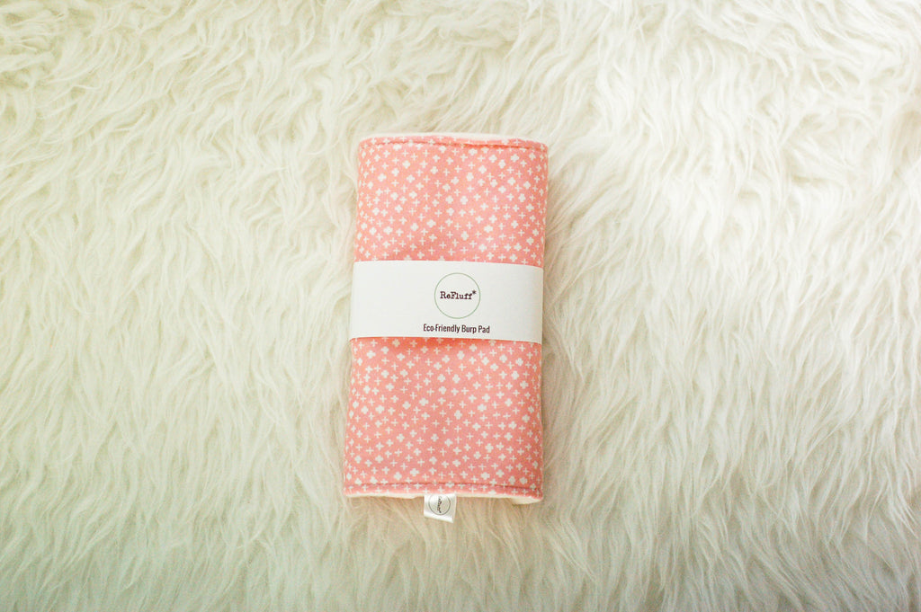 Cotton Pink Eco-Friendly Burp Pad - Burp Pads - ReFluff - Little A & Co.