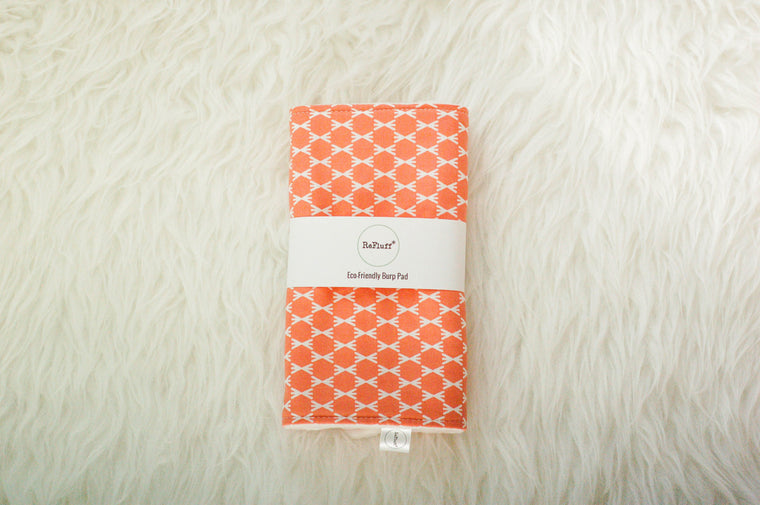 Sunny Peach Eco-Friendly Burp Pad - Burp Pads - ReFluff - Little A & Co.