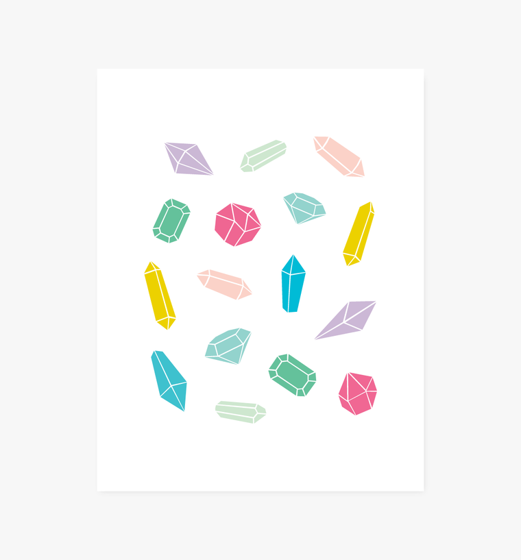 Gem Collection art print - Art Prints - Graphic Anthology - Little A & Co.