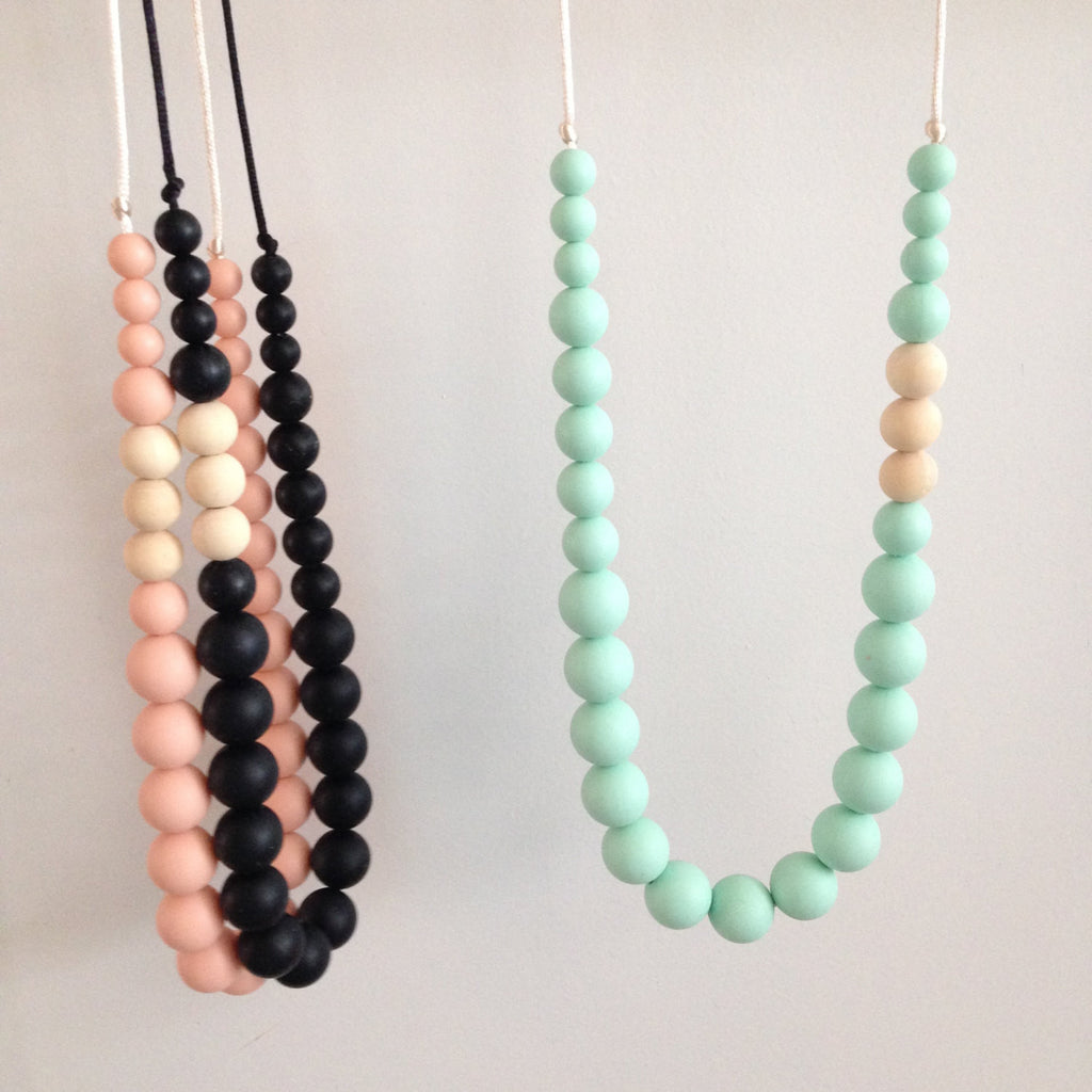 Tiffany Silicon Teething Necklace - teether - Sweetie Pie Design Co. - Little A & Co.