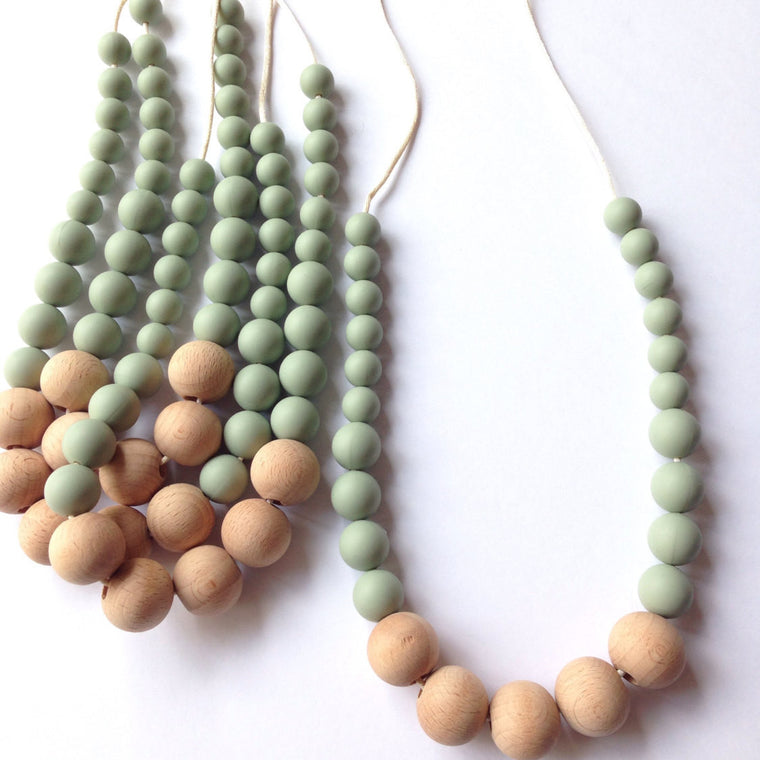 Emily Eco-Friendly Silicone Teething Necklace - teether - Sweetie Pie Design Co. - Little A & Co.