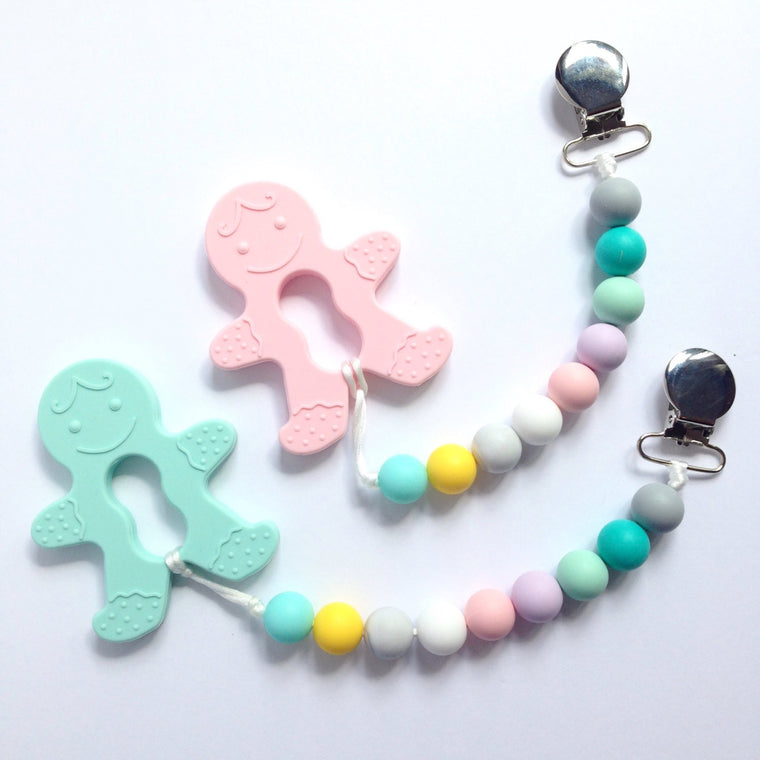 Gingerbread Cookie Teether - teether - Sweetie Pie Design Co. - Little A & Co.