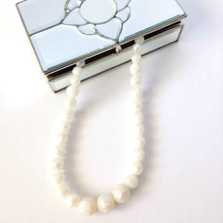 Pearl Silicone Teething Necklace - teether - Sweetie Pie Design Co. - Little A & Co.