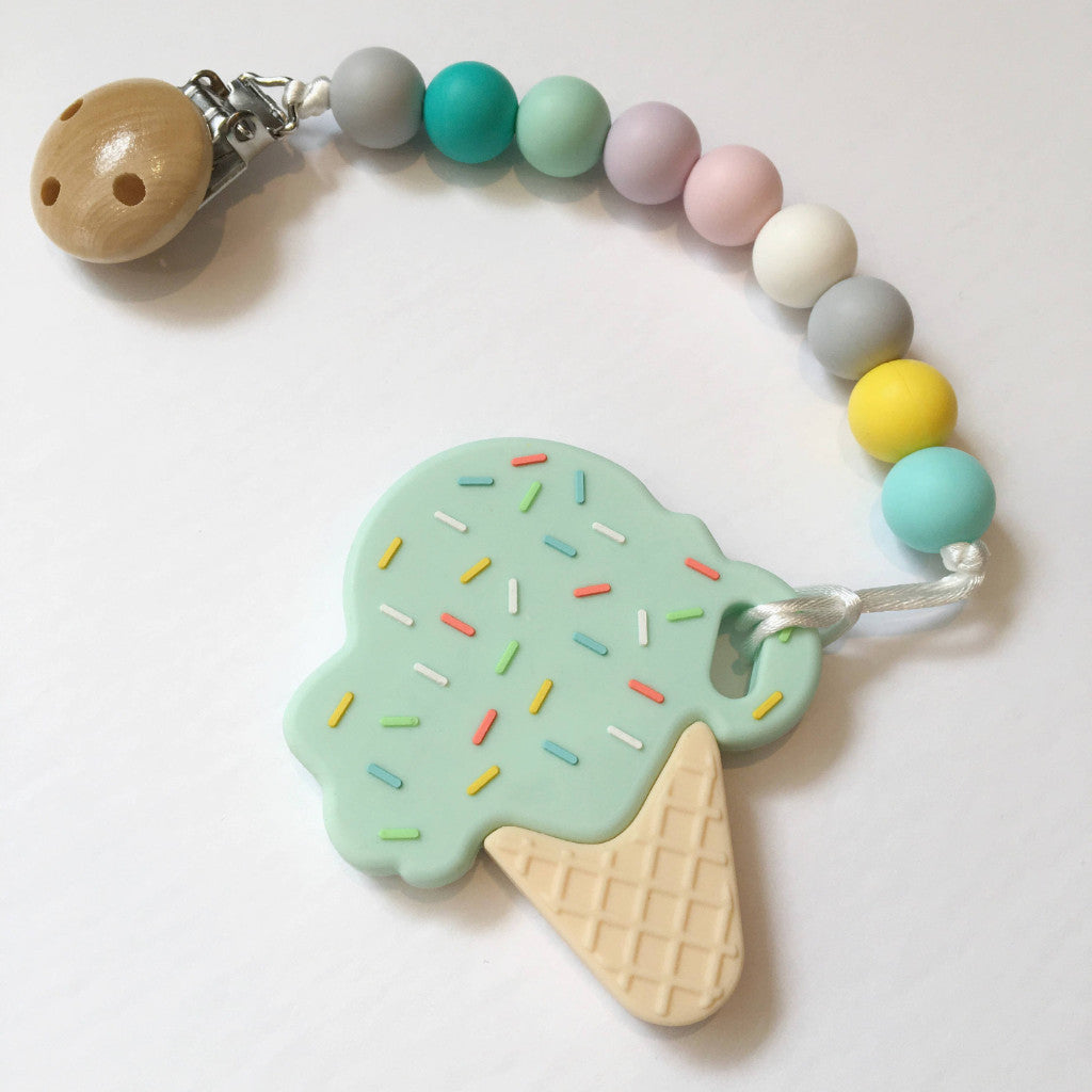 Ice Cream Teether - teether - Sweetie Pie Design Co. - Little A & Co.
