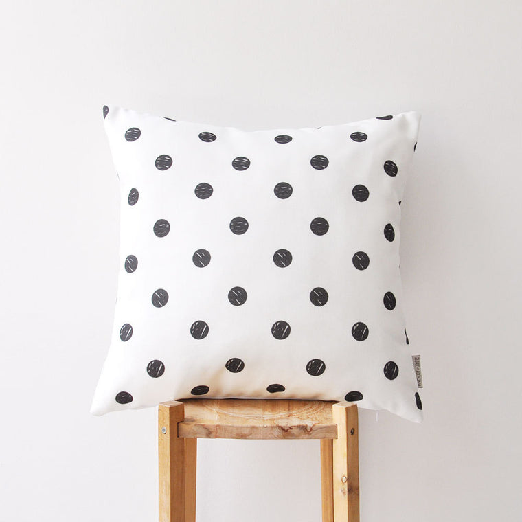 Black & White Geometric Decorative Pillow Cover - Decorative Pillows - Love, Joy, Create - Little A & Co.