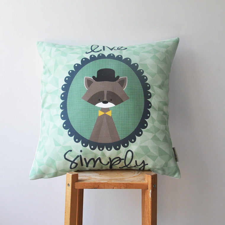 Decorative Kids Throw Pillow Cover - Woodland - Decorative Pillows - Love, Joy, Create - Little A & Co.