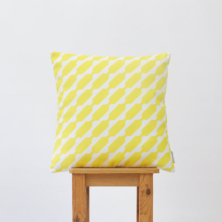 Yellow Modern Decorative Pillow Cover - Decorative Pillows - Love, Joy, Create - Little A & Co.