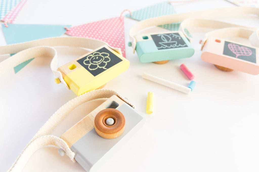 Wooden Toy Camera - Gray - Wooden Toys - Craffox - Little A & Co.