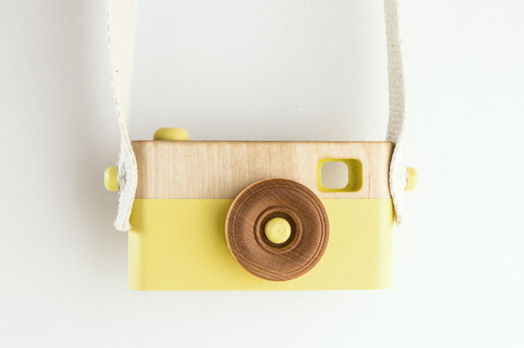 Wooden Toy Camera - Citrus Yellow - Wooden Toys - Craffox - Little A & Co.