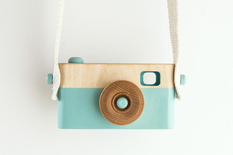 Wooden Toy Camera - Light Blue - Wooden Toys - Craffox - Little A & Co.