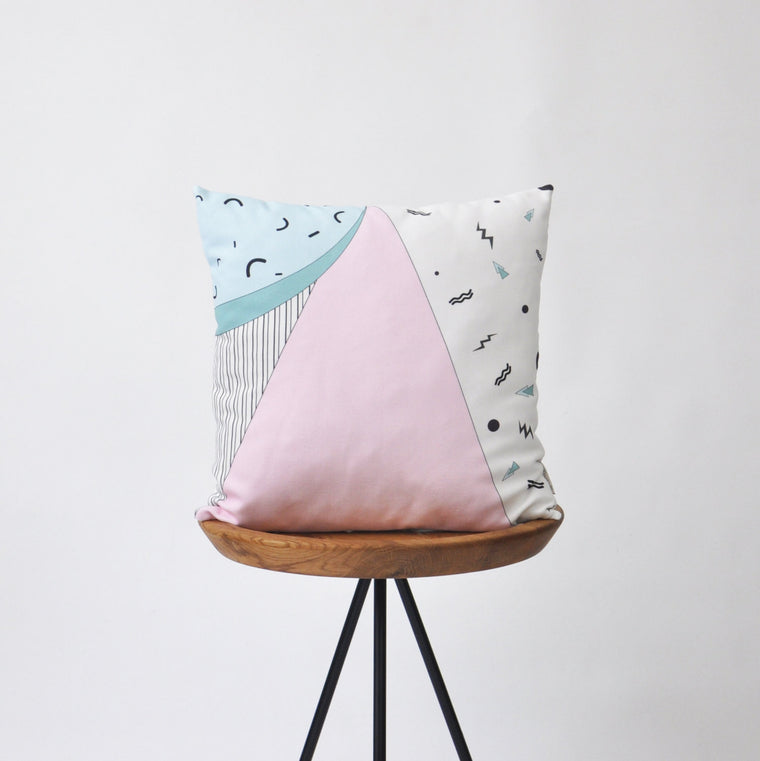Modern Decorative Pillow Cover with 80's Memphis Inspired Print - Decorative Pillows - Love, Joy, Create - Little A & Co.