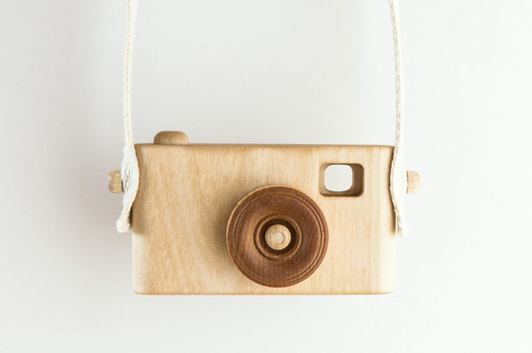 Wooden Toy Camera - Natural - Wooden Toys - Craffox - Little A & Co.