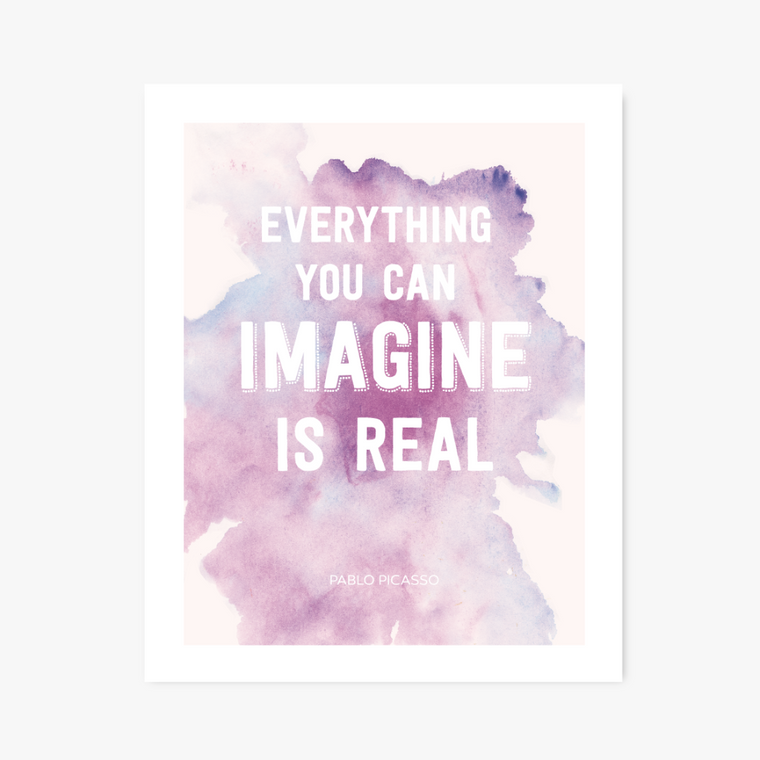 Imagine watercolor art print - Art Prints - Graphic Anthology - Little A & Co.