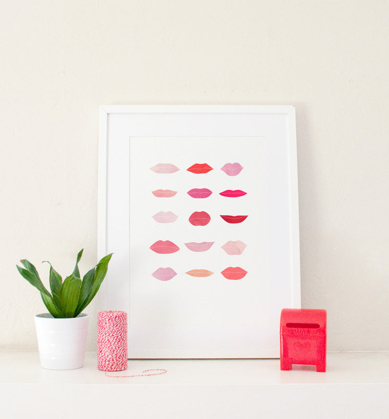 Lips Art Print - Art Prints - Graphic Anthology - Little A & Co.