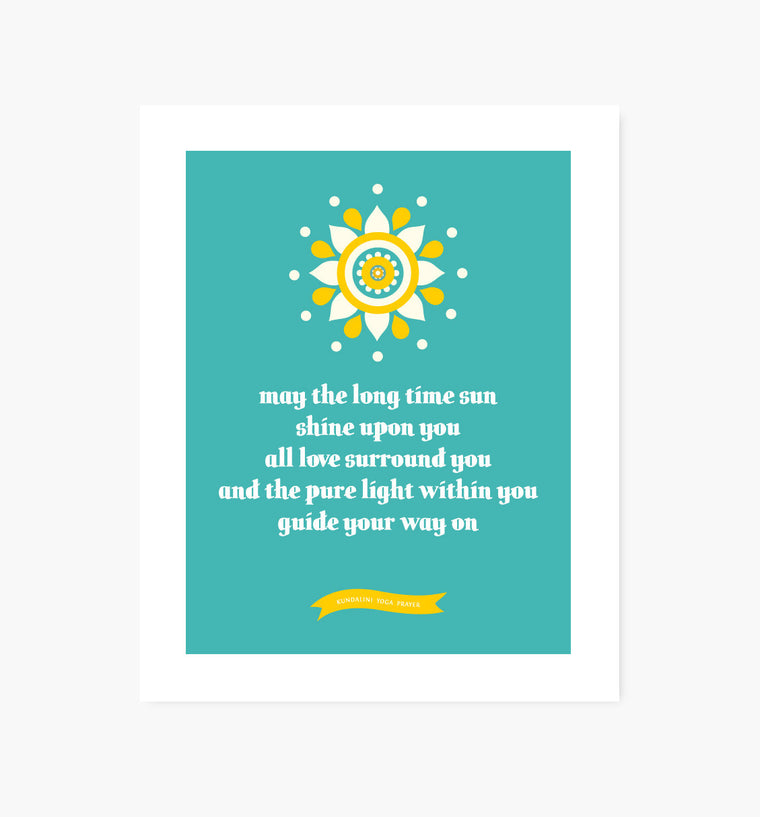 Kundalini Yoga Blessing art print - Art Prints - Graphic Anthology - Little A & Co.