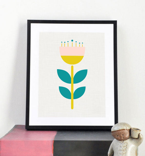 Scandi Flower art print - Art Prints - Graphic Anthology - Little A & Co.